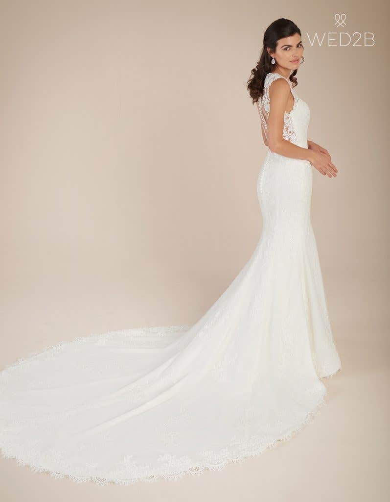 Full back view of princess wedding dress Ferris by Viva Bride
