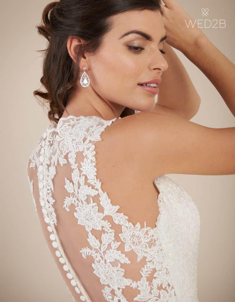 Back view of princess wedding dress Ferris by Viva Bride