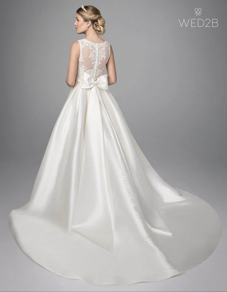 Back view of Gianna by Anna Sorrano, a lace wedding dress UK