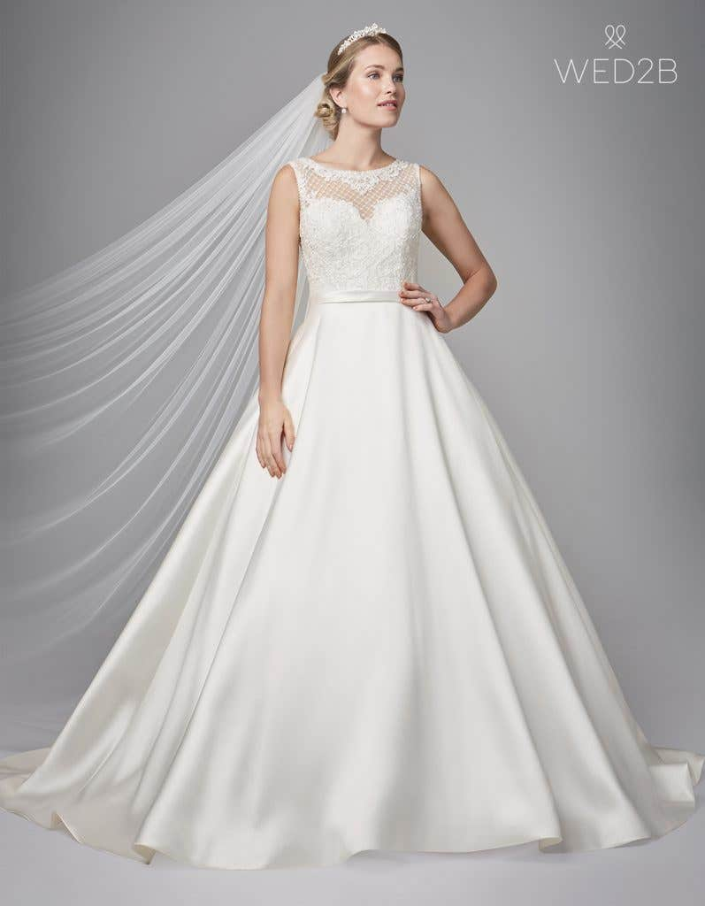 Front view of Gianna by Anna Sorrano, a lace wedding dress UK