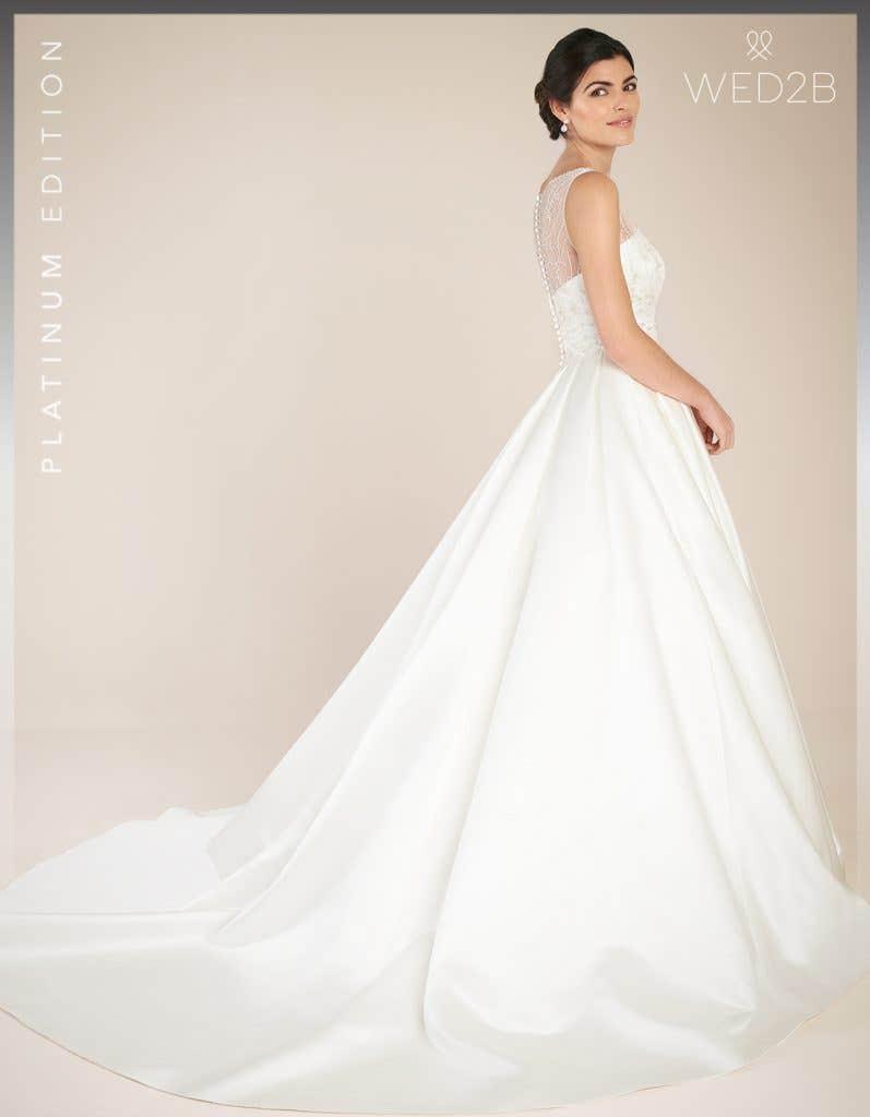 Back view of Hamilton by Anna Sorrano, a lace wedding dress UK