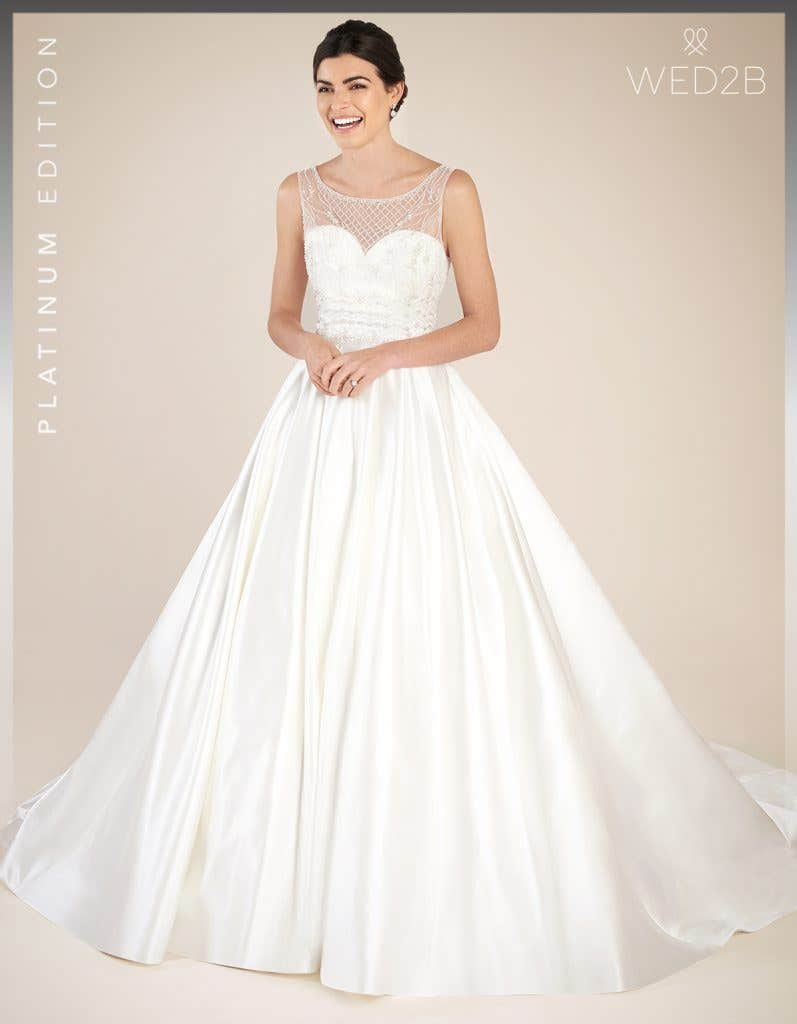 Front view of Hamilton by Anna Sorrano, a lace wedding dress UK