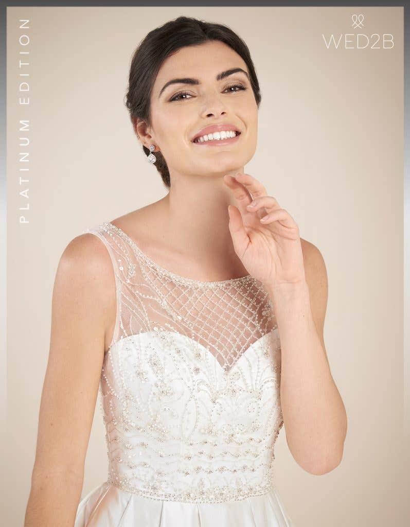 Close-up view of Hamilton by Anna Sorrano, a lace wedding dress UK