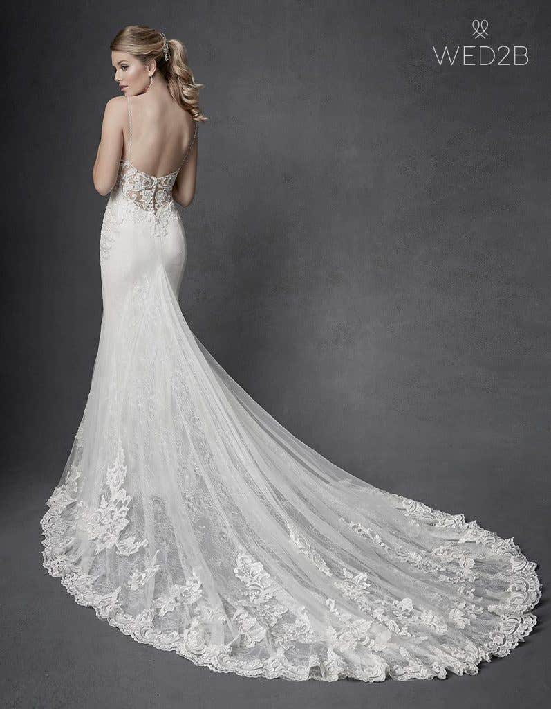 Back view of Kennedy by The Signature Collection, one of our exquisite wedding dresses