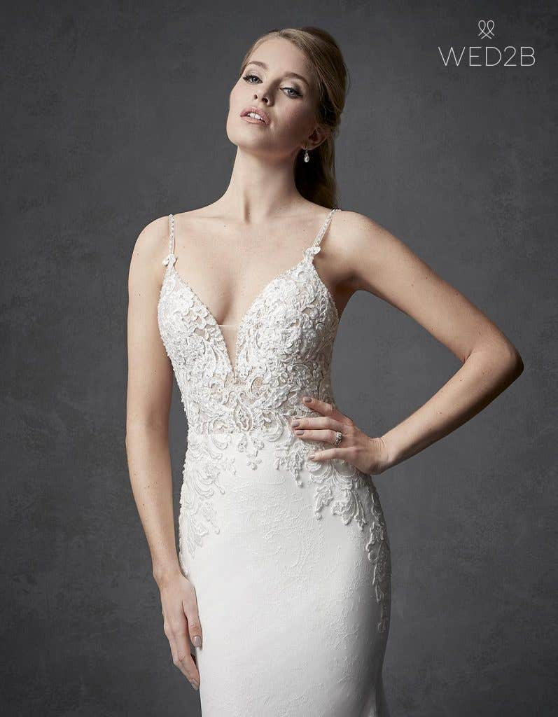 Close-up view of Kennedy by The Signature Collection, one of our exquisite wedding dresses