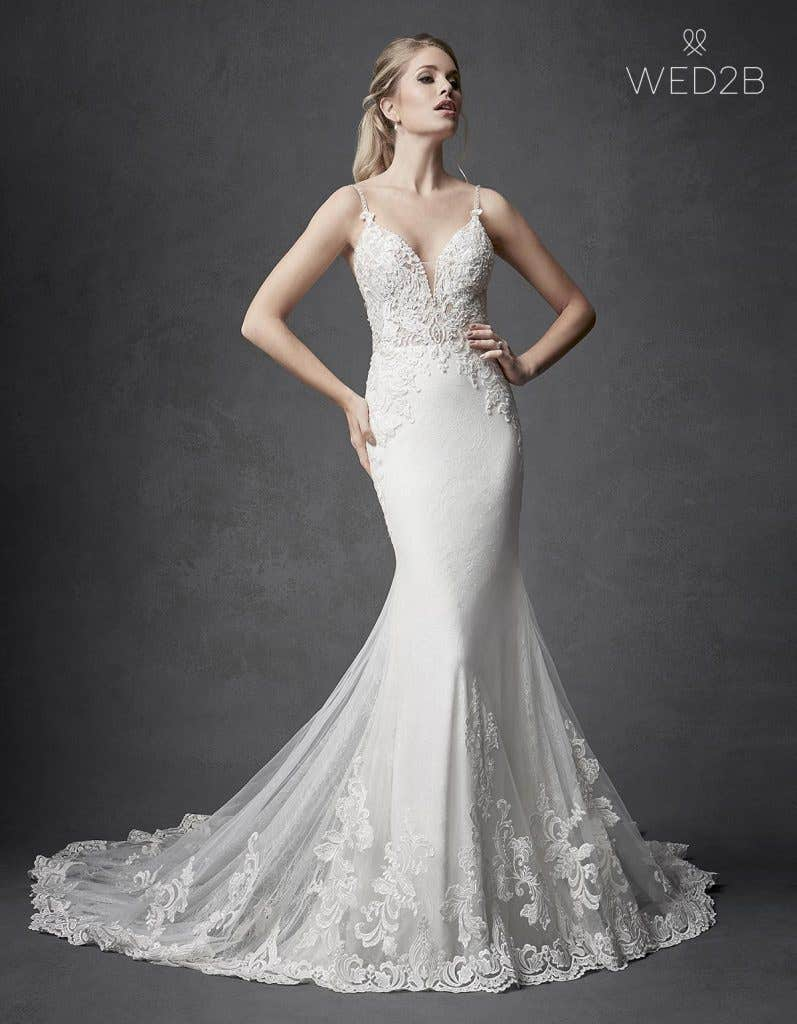 Front view of Kennedy by The Signature Collection, one of our exquisite wedding dresses