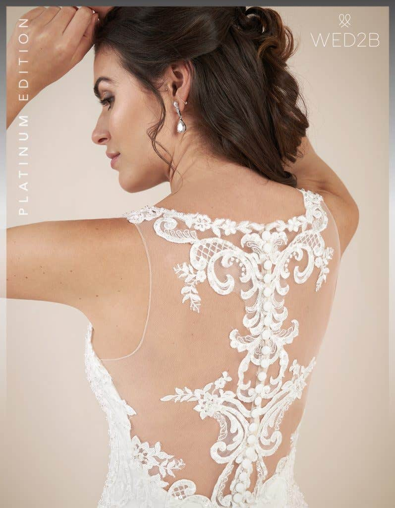 Close-up back view of princess wedding dress Shannon by Viva Bride