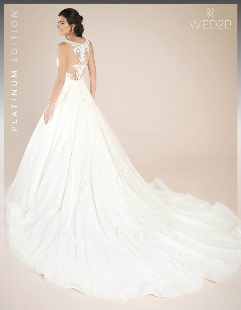 Back view of princess wedding dress Shannon by Viva Bride