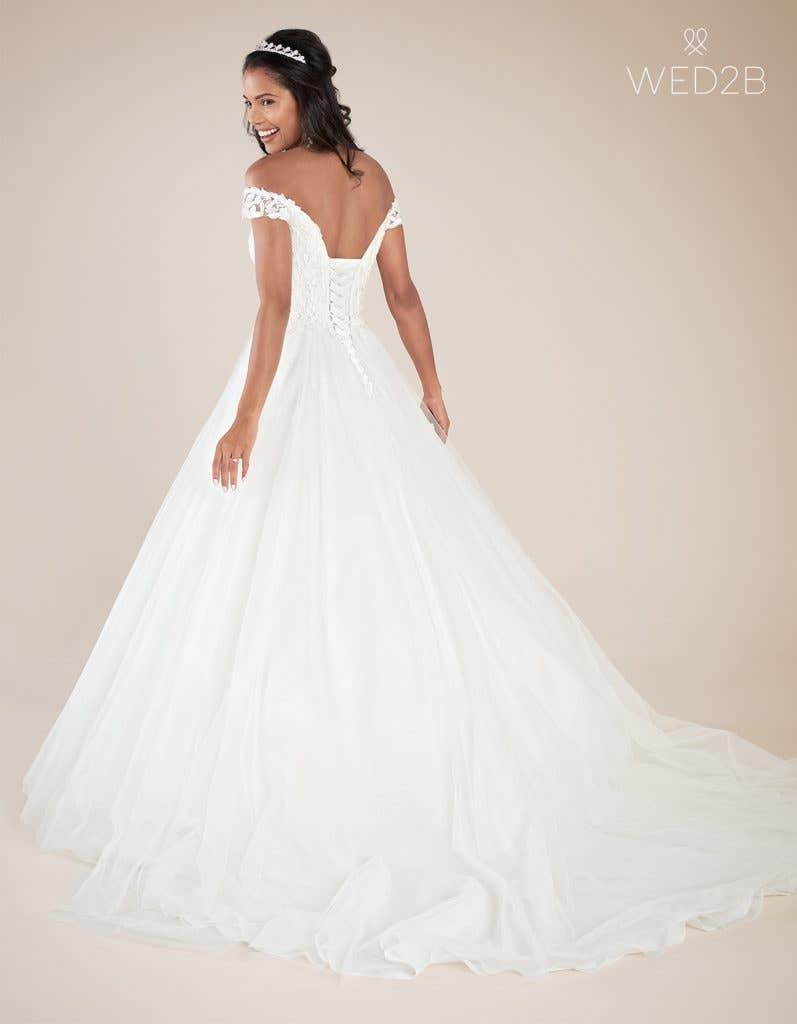 Back view of princess wedding dress Violette by Viva Bride