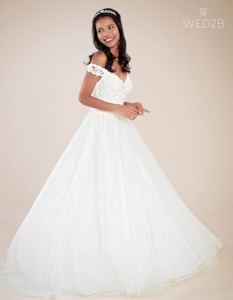 Front view of princess wedding dress Violette by Viva Bride