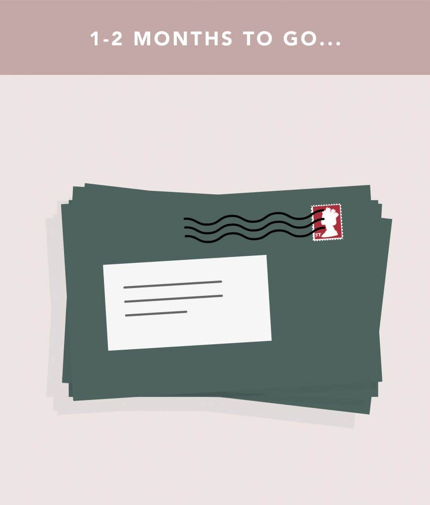 1-2 months to go on your wedding planning checklist