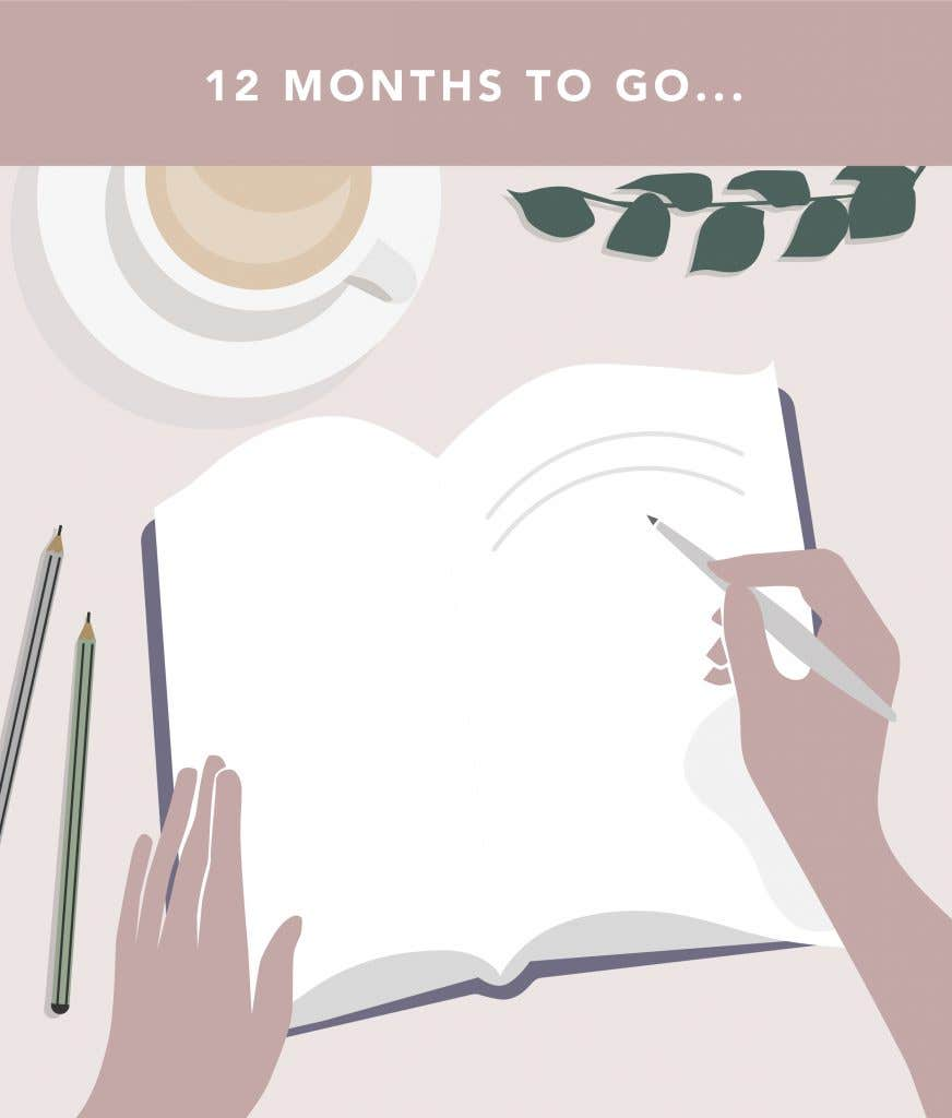 12 months to go on your wedding planning checklist