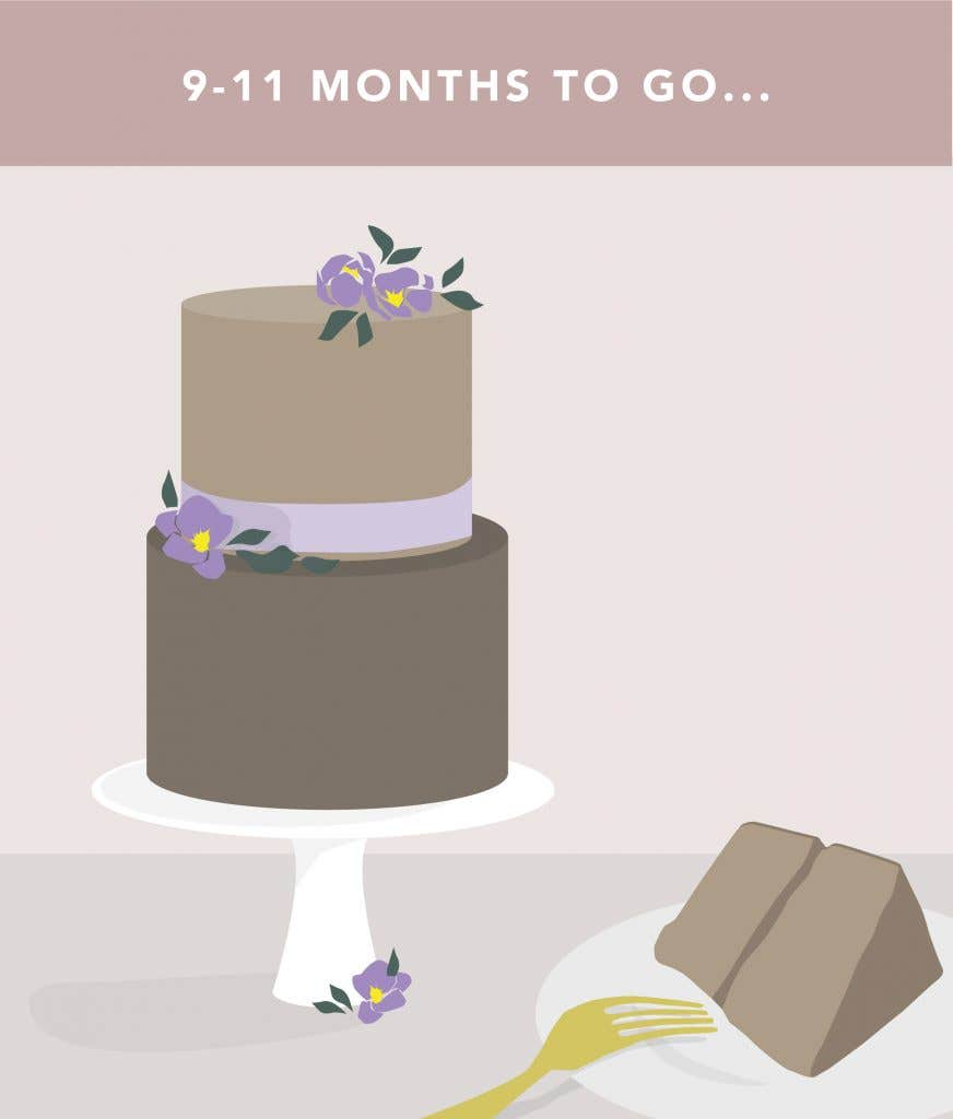 9 - 11 months to go on your wedding planning checklist