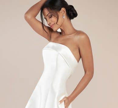 Turn heads with a high fashion wedding dress
