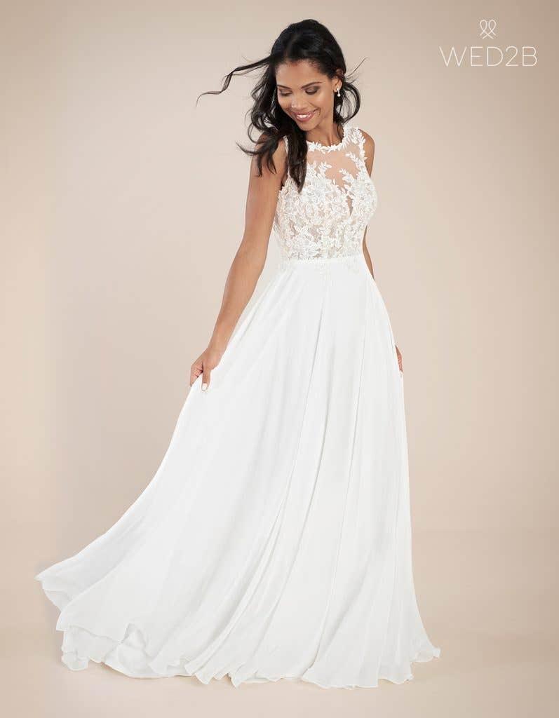Front view of fashion wedding dress Adalia by Heidi Hudson