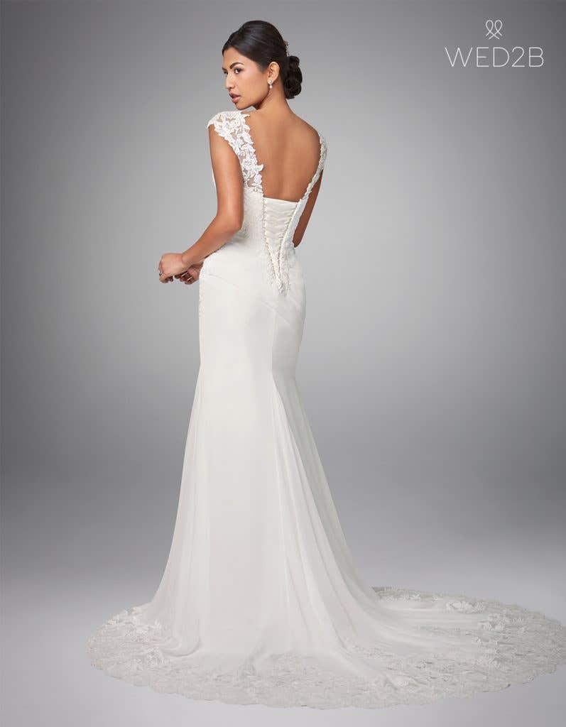 Back view of luxury wedding dress Adina by Anna Sorrano