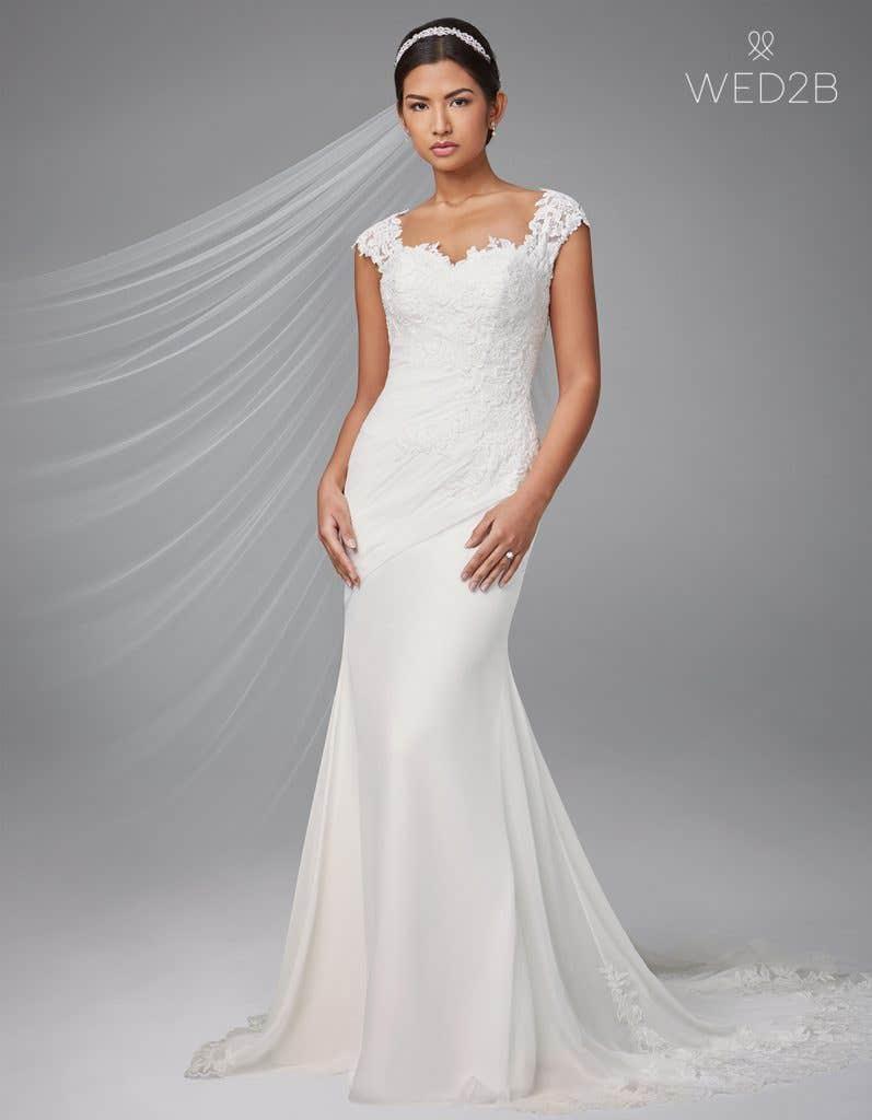 Front view of luxury wedding dress Adina by Anna Sorrano