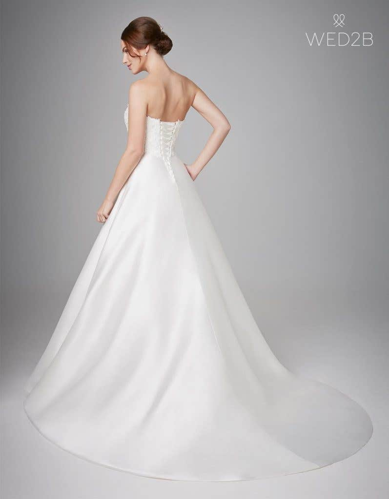 Back view of fashion wedding dress Georgia by Anna Sorrano