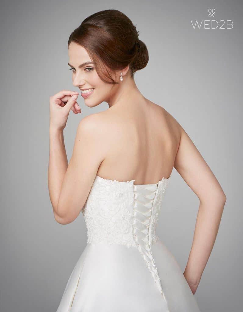 Close-up back view of fashion wedding dress Georgia by Anna Sorrano