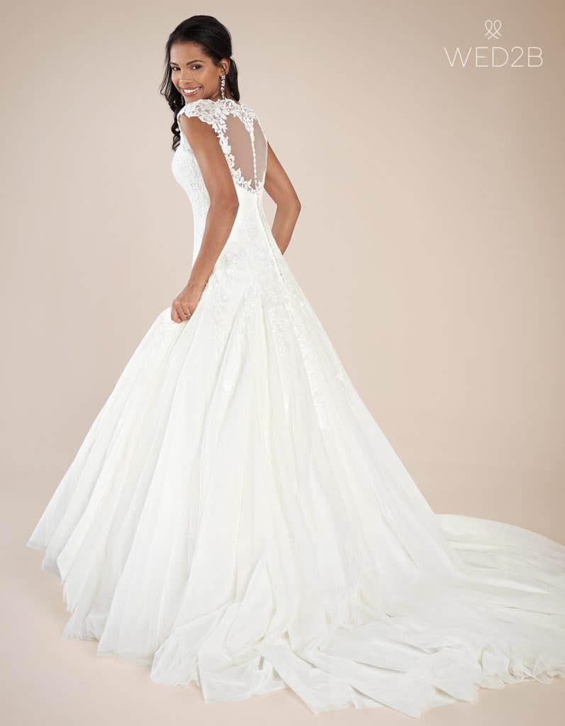 Back view of luxury wedding dress Jamie by Viva Bride