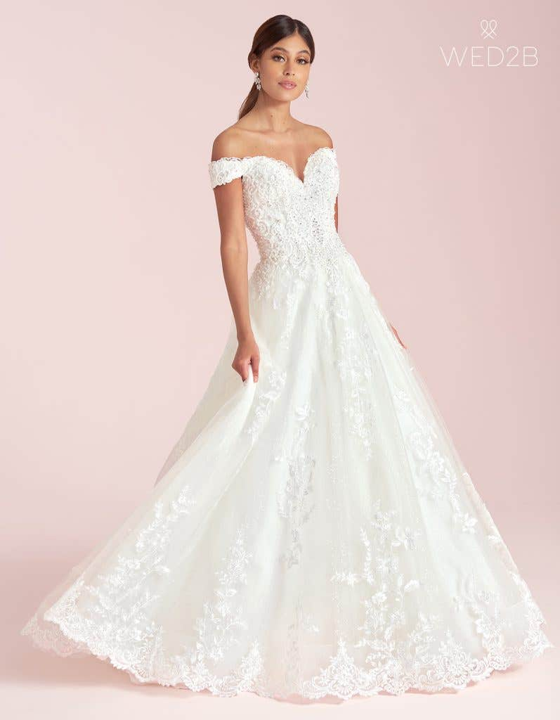 princess wedding gown by WED2B