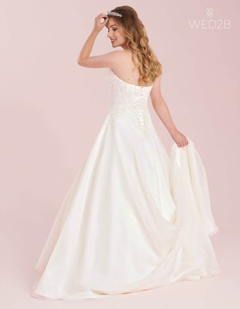 Lace up wedding dress from WED2B