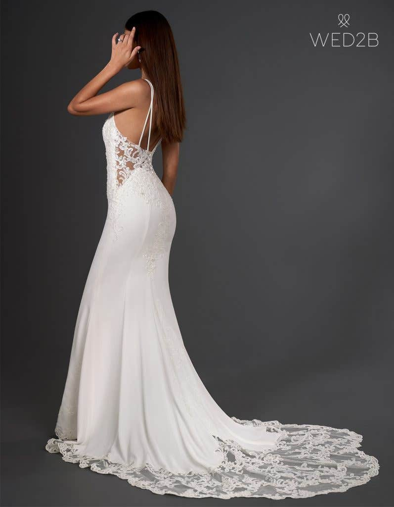 Crepe wedding dress from WED2B