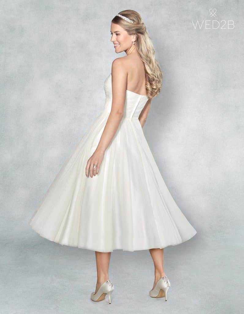 short bridal gown from wed2b