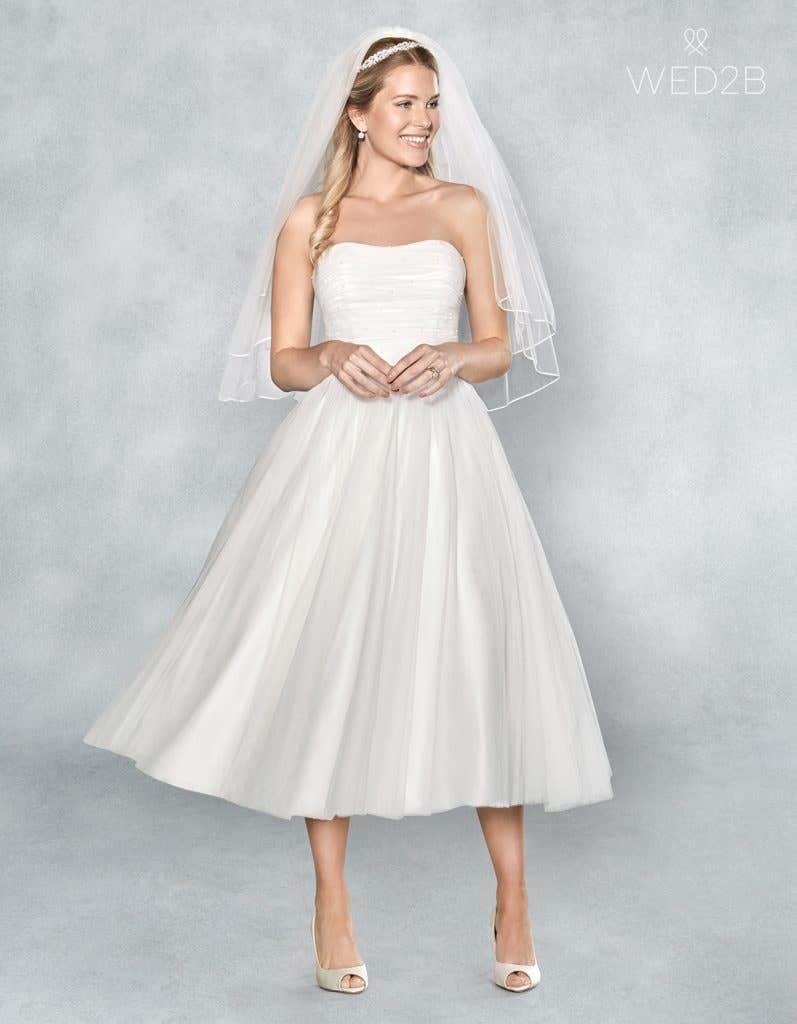 Tea length wedding dress from WED2B
