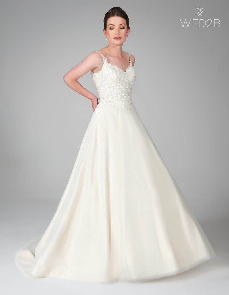 a line wedding dress from WED2B