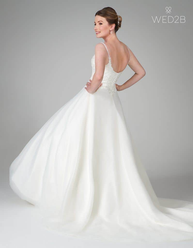 button up wedding dress from WED2B