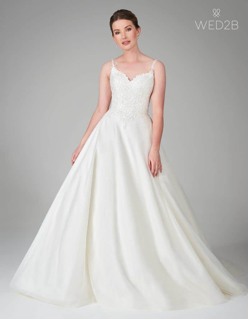 Embroidered wedding dress from WED2B
