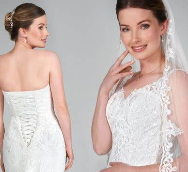 It's all in the detail: Discover your dream lace up wedding dress