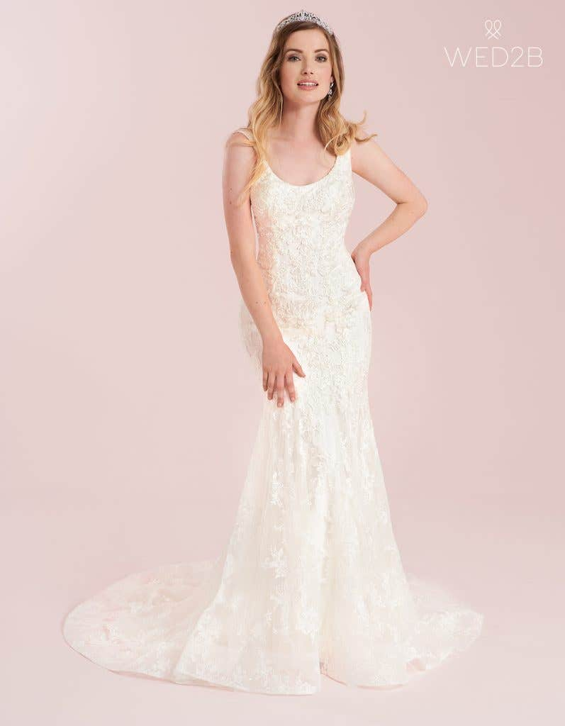 Fishtail wedding dress from WED2B