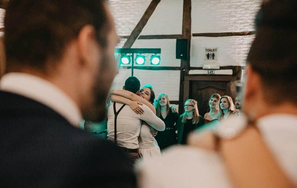 wedding reception dress from WED2B