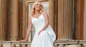 Fall in love with a beautiful elopement wedding dress