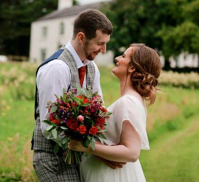 Real Weddings Belfast: Hailey And Kristen's Stylish Small Wedding