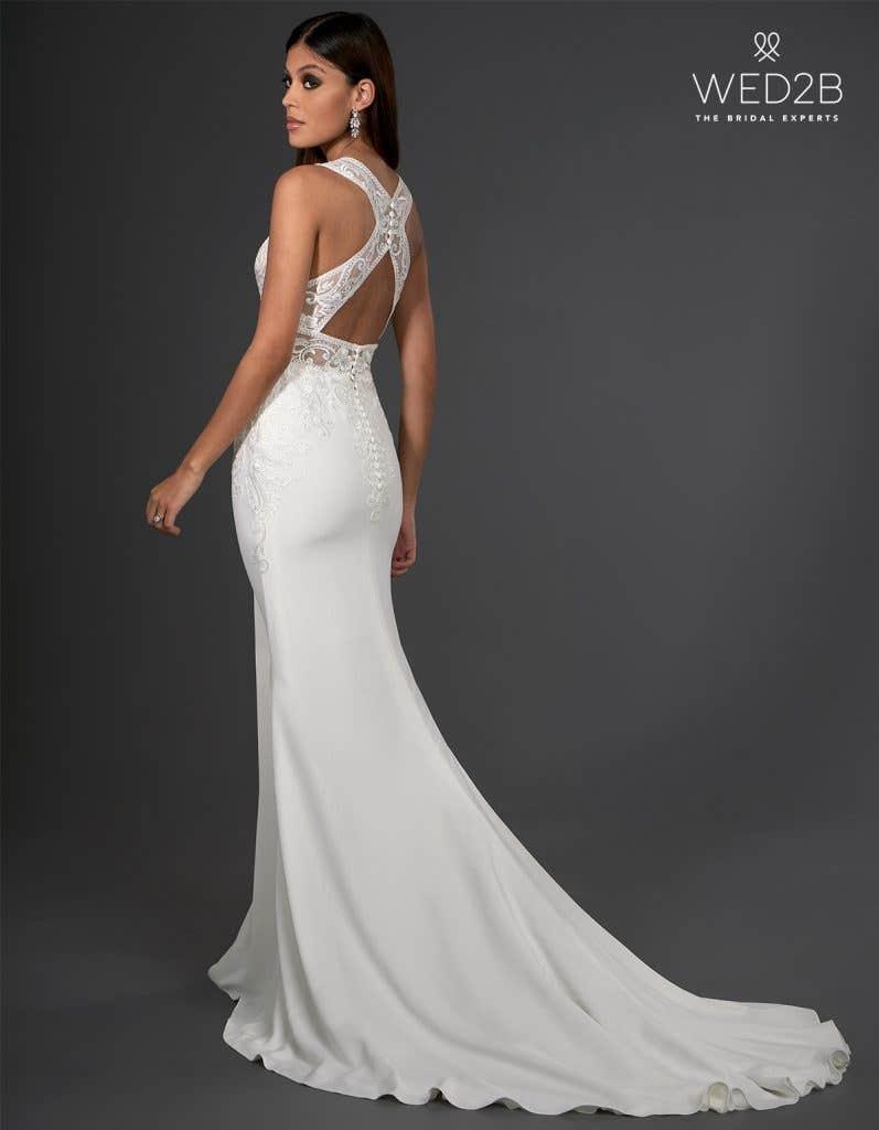 crepe wedding dress