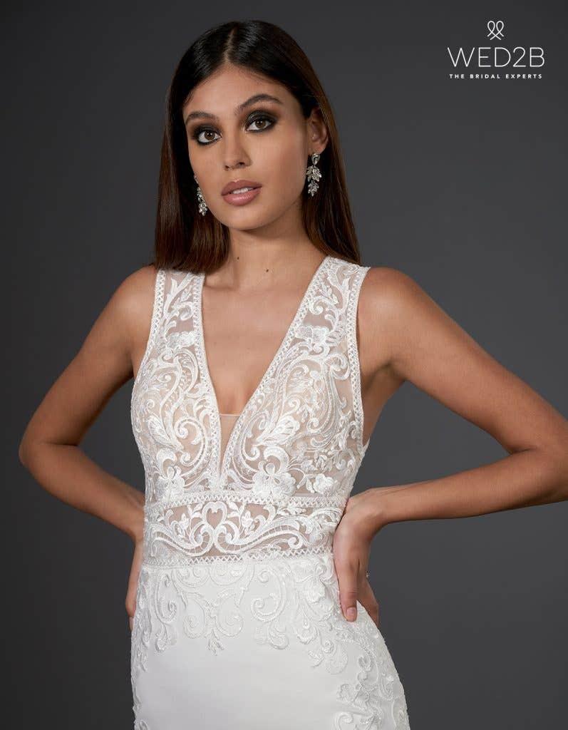 sheath wedding dress