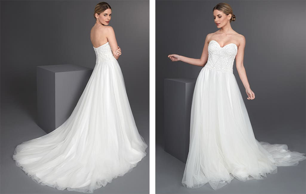 Allegra a wedding colour guide dress by Anna Sorrano